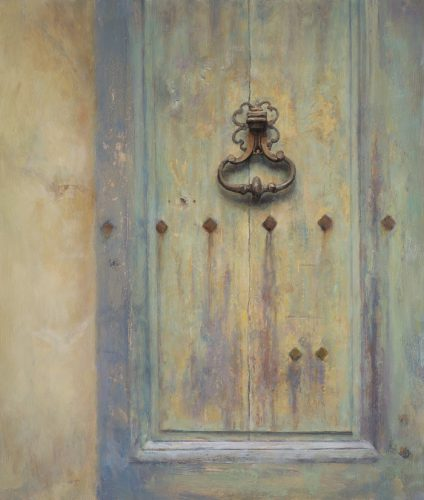 Door in Sienna. Oil 60x 70cm
