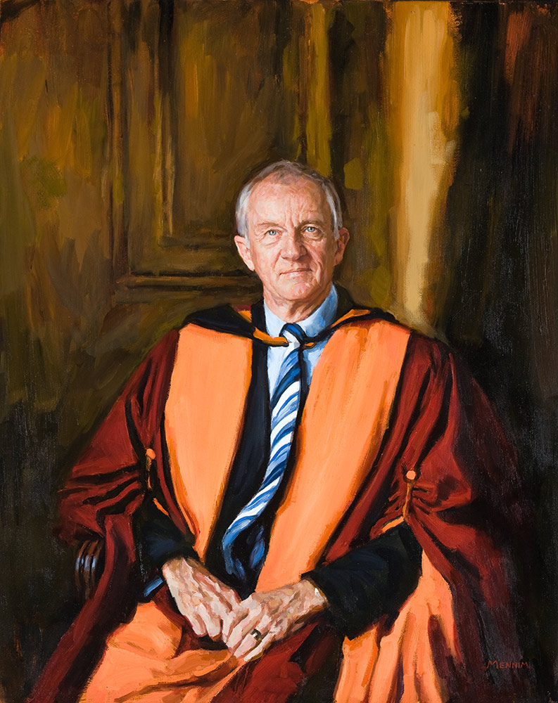 Dr Chapman. Head master of Queen Margaret's, York. Oil 30x45inches. Collection of the School.