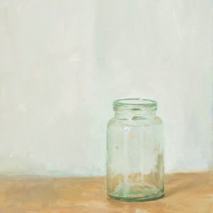Glass Jar. Oil on board. 14 x 20 inches.