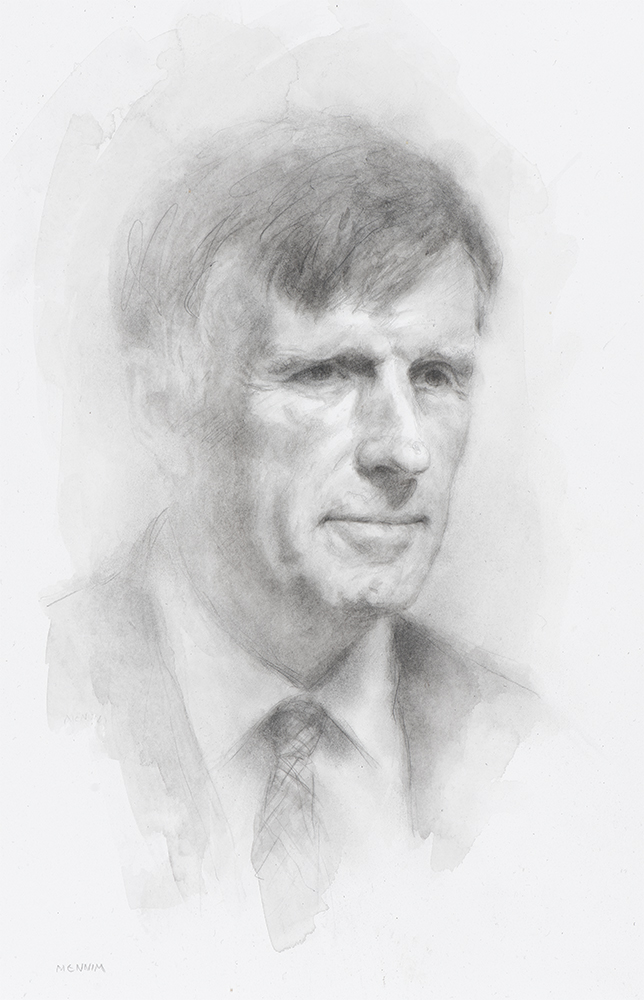 Prof. Michael Carpenter. Professor of Mineralogy and Mineral Physics. The President of Magdalene College. Pencil drawing. Collection of the college.