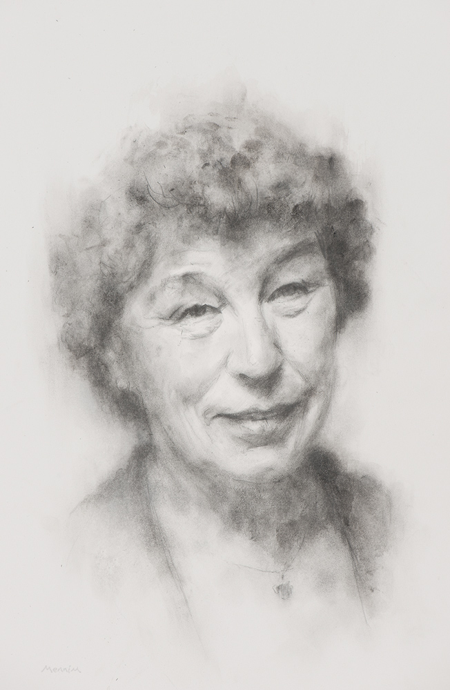Dr Mara Kalnins. Formerly Reader in Modern English Literature at Cambridge University, published widely in 19th and 20th c. literature, and the cultural history of the Baltic people. Pencil Drawing. Collection of Corpus Christie College, Cambridge.