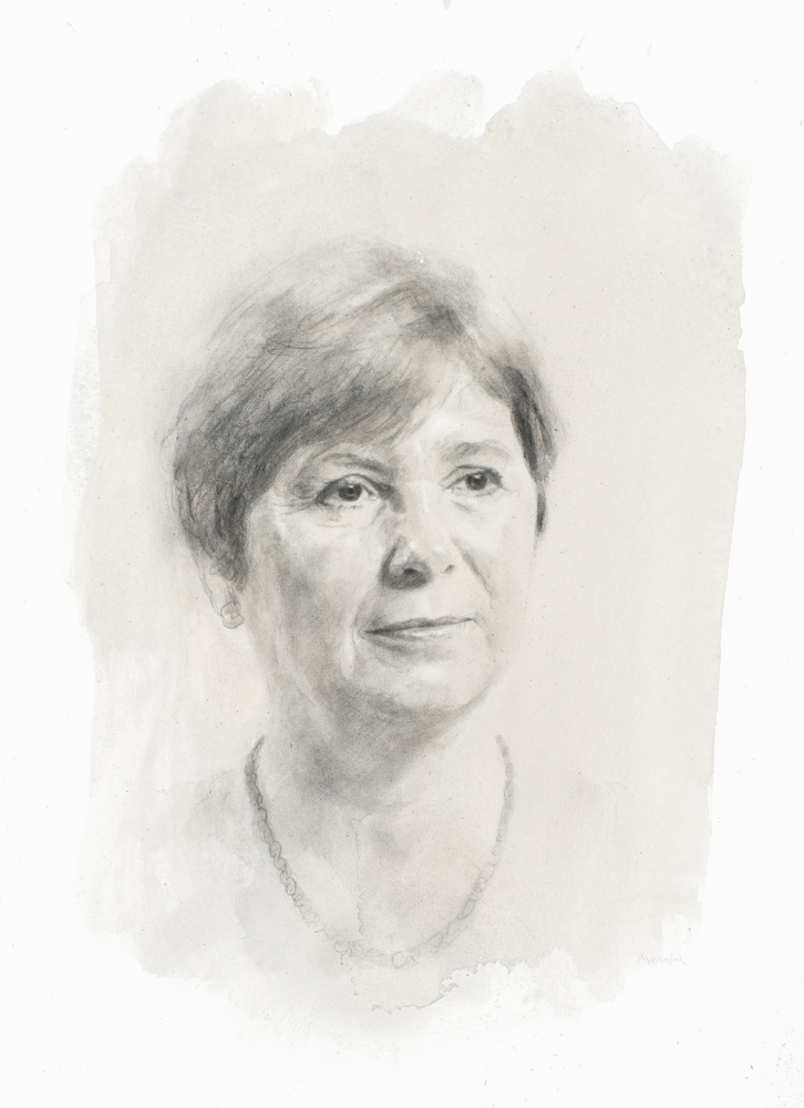 Professor Alison Smith. Professor of Plant Biochemistry, University of Cambridge Fellow of Corpus Christi College, Cambridge. Pencil drawing. Collection of the college.