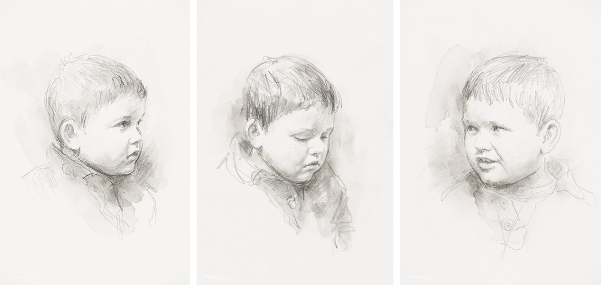 Commissioned portraits Alfie. Pencil.