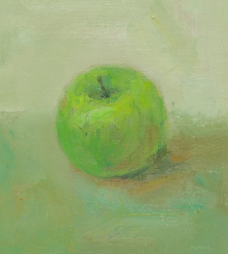 Apple. Oil on canvas. 8 x 10 inches.