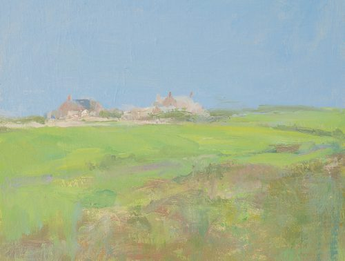 Cornish landscape. Oil on streted linen on board. 12 x 16 inches.