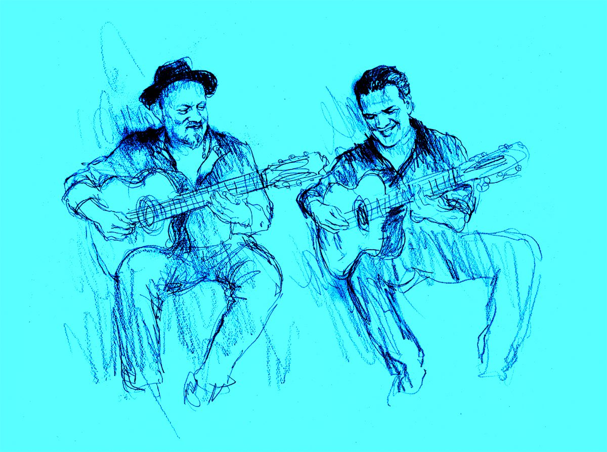Darin and Dave. CD cover illustration.