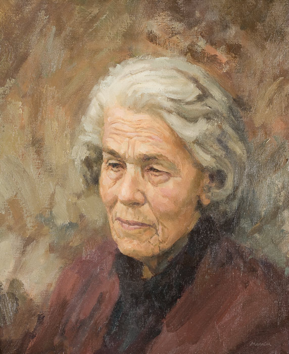 Dr EJ Mennim. My mother. Oil on canvas. 11x14 inches.
