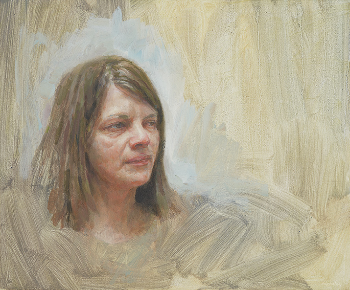 Ellie. Oil 12x20 inches