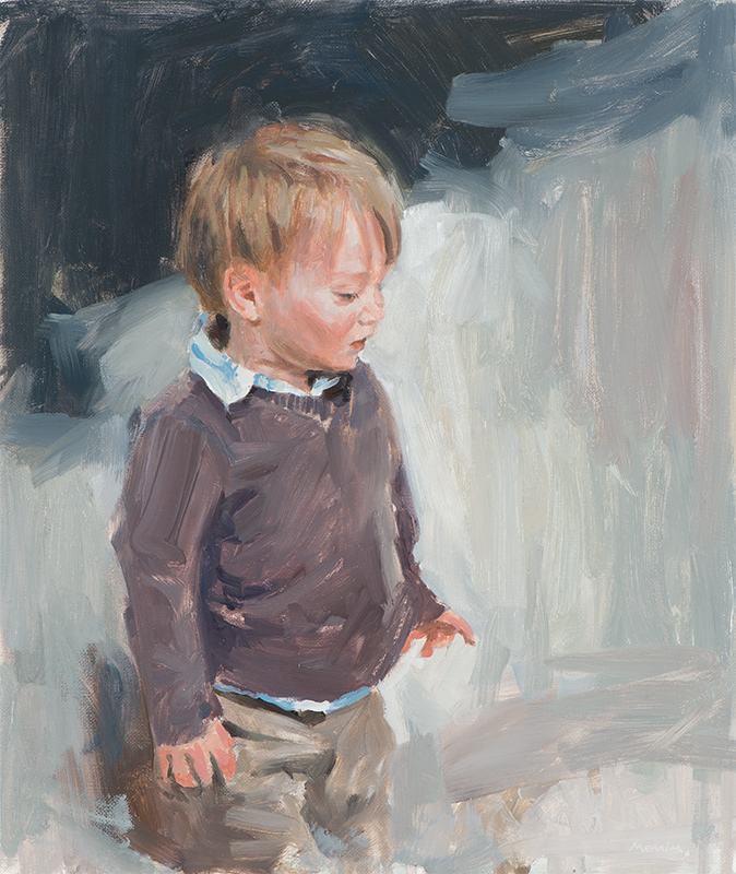 Jacob 1. Commissioned portrait. Oil sketch. 10x18 inches