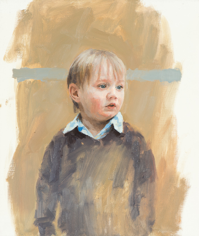 Jacob 2. Commissioned portrait. Oil sketch. 10x18 inches