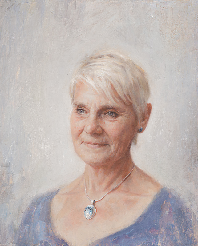 Jenny. Commissioned portrait. Oil 12x20 inches.