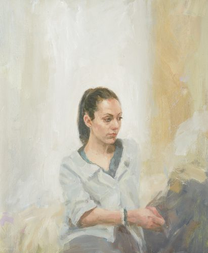 Louise. Oil 12x22 inches.
