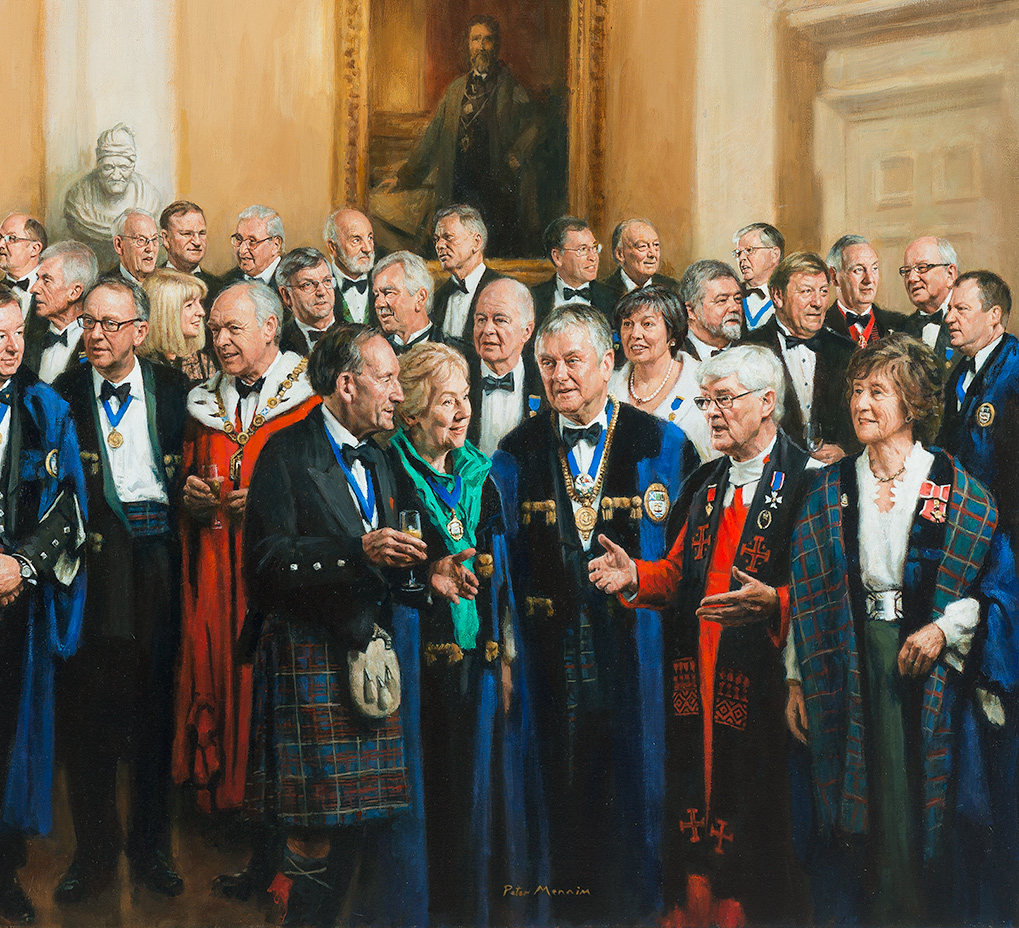 Detail of Group Portrait of the Merchant Company of the City of Edinburgh