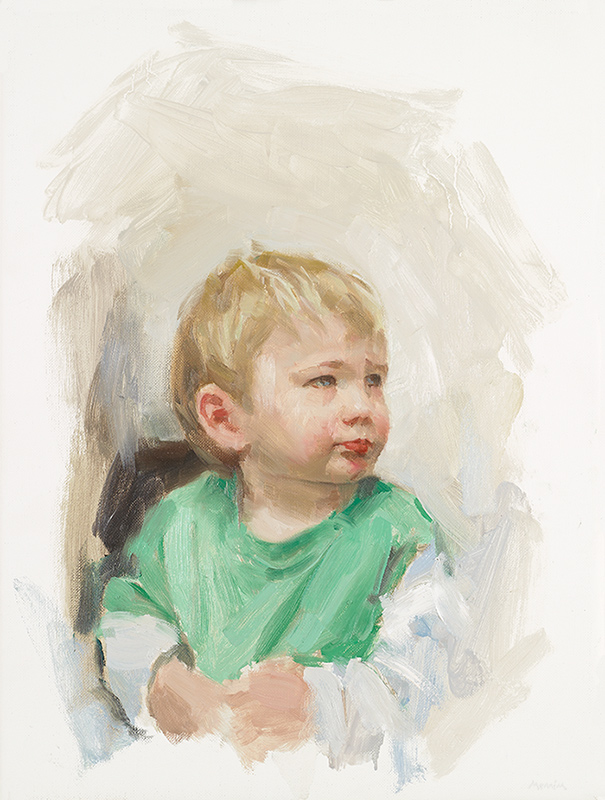 Sam. Commission. Private collection. Oil on linen. 12 x 14 inches.