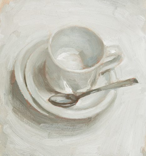 Cup and Saucer. Oil on canvas. 10x14 inches.