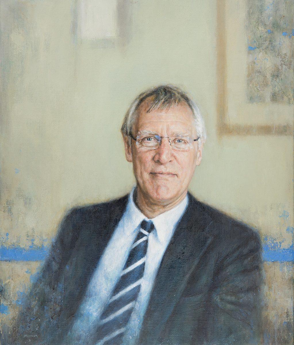 Mr Matthew Bullock, Master of St Edmund's College, University of Cambridge. Oil, 56x66cm.